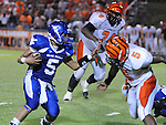 Water Valley's E.J. Bounds (5) runs vs. Calhoun City in Water Valley, Miss. on Friday, September 2 2011. Calhoun City won 16-14..