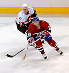 10 February 2007: Montreal Canadiens left wing forward Sergei Samsonov (15) of Russia in action with Ottawa Senators center Jason Spezza (19) at the Bell Centre in Montreal, Canada. The Senators defeated the Canadiens 5-3 in front of a hometown sellout crowd of 21,273.