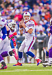 19 October 2014: Buffalo Bills quarterback Kyle Orton looks for an open receiver in the second quarter against the Minnesota Vikings at Ralph Wilson Stadium in Orchard Park, NY. The Bills defeated the Vikings 17-16 in a dramatic, last minute, comeback touchdown drive. Mandatory Credit: Ed Wolfstein Photo *** RAW (NEF) Image File Available ***