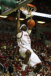 Washington State University freshman forward, DeAngelo Casto, goes up for a dunk in a game against Montana State at Key Arena in Seattle, Washington, on December 13, 2008.  The Cougars beat Montana State 70-51.