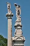 Statues in Laurel Hill Cemetery in Philadelphia