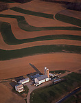 Aerial, Pennsylvania, farm views