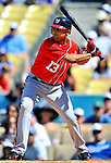 24 July 2011: Washington Nationals infielder Alex Cora in action against the Los Angeles Dodgers at Dodger Stadium in Los Angeles, California. The Dodgers defeated the Nationals 3-1 to take the rubber match of their three game series. Mandatory Credit: Ed Wolfstein Photo