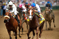 Louisville, KY- May 05:  Shackleford with Jesus Castanonwins the Churchill Downs Handicap at Churchill Downs in Louisville, KY on 05/04/12. (Alex Evers/ Eclipse Sportswire)