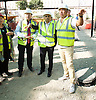 Sadiq Khan <br /> Mayor of London<br /> visits the Boxpark Croydon site adjacent to East Croydon station, Croydon, Surrey, Great Britain <br /> 1st September 2016 <br /> <br /> <br /> <br /> with the CEO of Boxpark Roger Wade and <br /> <br /> and Tony Newman - leader of Croydon Council in the background <br /> <br /> to promote the Boxpark Opening Festival on 29th/30th October 2016 <br /> <br /> <br /> <br /> Photograph by Elliott Franks <br /> Image licensed to Elliott Franks Photography Services