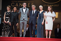 Todd Haynes, Brian Selznick, Michelle Williams, Julianne Moore, Millicent Simmonds &amp; Jaden Michael at the premiere for &quot;Wonderstruck&quot; at the 70th Festival de Cannes, Cannes, France. 18 May 2017<br /> Picture: Paul Smith/Featureflash/SilverHub 0208 004 5359 sales@silverhubmedia.com