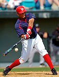 14 March 2006: Royce Clayton, infielder for the Washington Nationals, at bat during a Spring Training game against the Florida Marlins. The Marlins defeated the Nationals 2-1 at Space Coast Stadium, in Viera, Florida...Mandatory Photo Credit: Ed Wolfstein..
