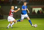 Hamilton Accies v St Johnstone...24.09.13      League Cup<br /> Brian Easton and Alex Neil<br /> Picture by Graeme Hart.<br /> Copyright Perthshire Picture Agency<br /> Tel: 01738 623350  Mobile: 07990 594431