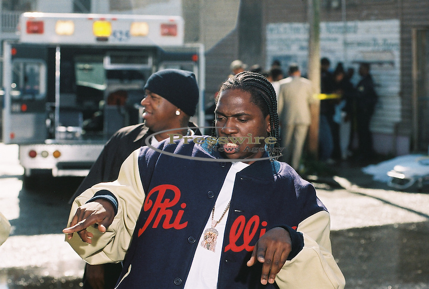 """Pusha T performing on Birdman's """"What Happened to That Boy"""" video in New Orleans for Cash Money Records"""
