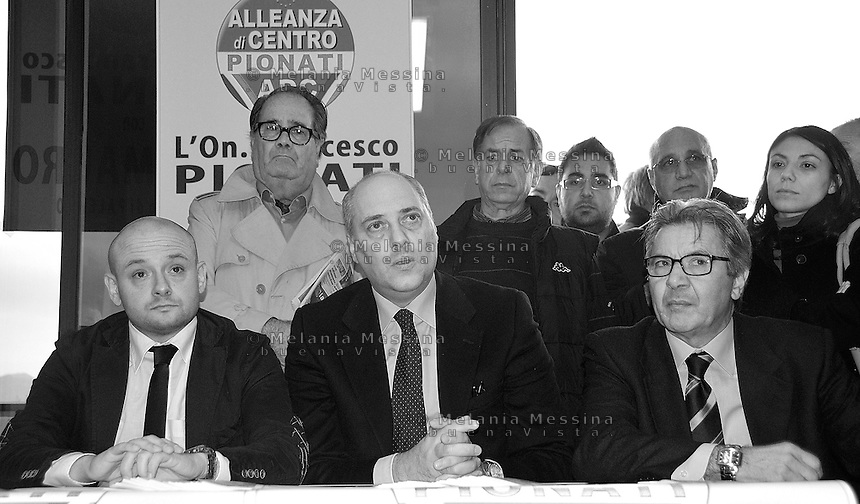 press conferenceof Francesco Pionati in Palermo  to announce candidacy for mayor of Giuseppe Mauro..conferenza stampa di Pionati (Alleanza di Centro) a Palermo per annunciare la candidatura a sindaco  di Giuseppe Mauro.