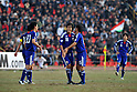 (L-R) Maya Yoshida, Ryoichi Maeda, Yasuyuki Konno (JPN), NOVEMBER 11, 2011 - Football / Soccer : Ryoichi Maeda (C) of Japan celebrates his goal during the 2014 FIFA World Cup Asian Qualifiers Third round Group C match between Tajikistan 0-4 Japan at Central Stadium in Dushanbe, Tajikistan. (Photo by Jinten Sawada/AFLO)