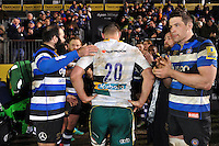 Calum Clark of Northampton Saints leaves the field after the match. Aviva Premiership match, between Bath Rugby and Northampton Saints on February 10, 2017 at the Recreation Ground in Bath, England. Photo by: Patrick Khachfe / Onside Images