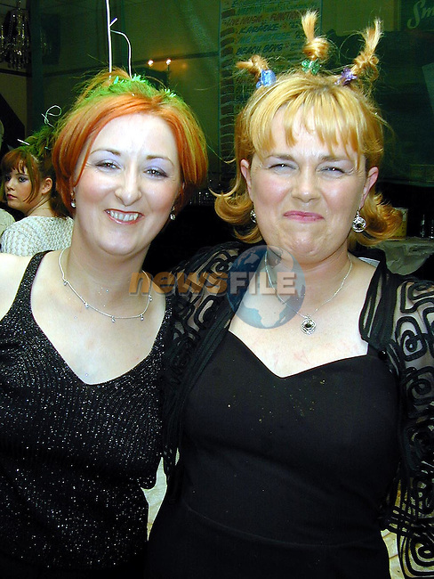 Olive and Louise Reilly at the Millenium Hair Show in O'Neill's Duleek..Picture Paul Mohan Newsfile.NO BYLINE PLEASE
