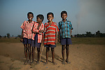 Children at the playground of the ressetlement colony at Jharsuguda, provided as a part of the benefits as per Orissa R&R policy 2006, initiated by UNDP.
