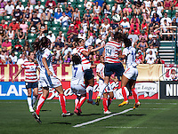 Abby Wambach, Raquel Rodriguez.  The USWNT defeated Costa Rica, 8-0, during a friendly match at Sahlen's Stadium in Rochester, NY.