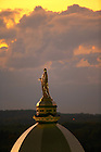 Statue of the Blessed Virgin Mary atop the Golden Dome..Photo by Matt Cashore