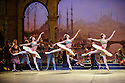 London, UK. 12.01.2016. English National Ballet present Le Corsaire, at the London Coliseum. Picture shows: Crystal Costa, Alison McWhinney, Isabelle Brouwers (Odalisques). Photograph © Jane Hobson.