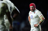 James Haskell of England looks on during a break in play. RBS Six Nations match between England and Ireland on February 27, 2016 at Twickenham Stadium in London, England. Photo by: Patrick Khachfe / Onside Images