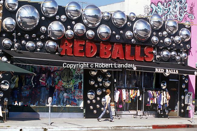 Red Balls on Melrose Ave circa 1980's