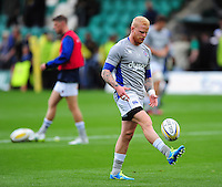 Tom Homer of Bath Rugby during the pre-match warm-up. Aviva Premiership match, between Northampton Saints and Bath Rugby on September 3, 2016 at Franklin's Gardens in Northampton, England. Photo by: Patrick Khachfe / Onside Images