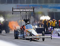 Apr 30, 2016; Baytown, TX, USA; NHRA top fuel driver Terry McMillen during qualifying for the Spring Nationals at Royal Purple Raceway. Mandatory Credit: Mark J. Rebilas-USA TODAY Sports