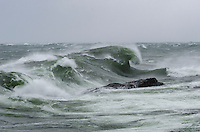 A giant Lake Superior wave captured during a November gale. Marquette, MI