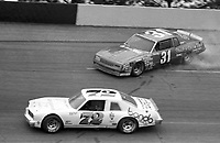 Billy Harvey spins during a preliminary ARCA  race before the Atlanta Journal 500 at Atlanta International Raceway on November 11, 1984. (Photo by Brian Cleary/www.bcpix.com)