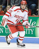 Corey Trivino (BU - 10) - The visiting Boston College Eagles defeated the Boston University Terriers 3-2 to sweep their Hockey East series on Friday, January 21, 2011, at Agganis Arena in Boston, Massachusetts.