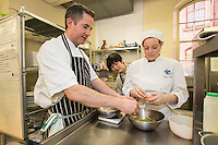 Mark Anderson of the Ruddington Arms with Claire Chocholko
