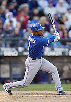 04 October 2009: Texas Rangers shortstop #1 Elvis Andrus lines out to right against the Seattle Mariners in the 8th inning . Seattle won 4-3 over the Texas Rangers at Safeco Field in Seattle, Washington.