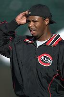Ken Griffey Jr. Cincinnati Reds vs Oakland Athletics. Oakland, CA 6/7/2004 MANDATORY CREDIT: Brad Mangin