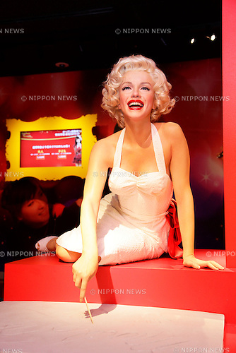 March 13, 2013, Tokyo, Japan - The wax figure of Marilyn Monroe, an American actress,  is displayed during a media briefing for the opening of the Madame Tussauds Tokyo wax museum in Odaiba, Tokyo, March 13 , 2013. .The Madame Tussauds Tokyo, which is the 14th permanent branch of the world famous British wax museum, will open to public on March 15, 2013. As well as international celebrities and royalty the Japanese museum also features local soccer star Kazuyoshi Miura..