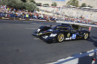 Bacdropped by the Tower of David, a racing car during a performance on 13 June 2013 in Jerusalem, Israel, as part of the 'Peace Road Show' event aimed at highlighting peace and coexistence on 13 to 14 June around the Old City of Jerusalem. Photo by Oren Nahshon