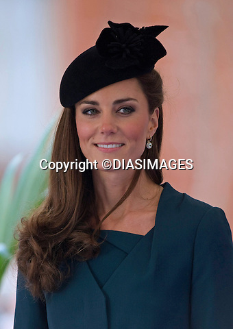 """CATHERINE, DUCHESS OF CAMBRIDGE PREGNANT .An official staement by Buckingham Palace confirmed Kate's pregnancy. However, no date of birth has been given...KATE JOINS QUEEN AND DUKE ON START OF JUBILEE TOUR.Catherine, Duchess of Cambridge accompanied The Queen and Duke of Edinburgh to Leicester on the the start of their country wide Jubilee Tour_8 March 2012.Mandatory credit photo: ©Francis Dias/DIASIMAGES..(Failure to credit will incur a surcharge of 100% of reproduction fees)..                **ALL FEES PAYABLE TO: """"NEWSPIX INTERNATIONAL""""**..IMMEDIATE CONFIRMATION OF USAGE REQUIRED:.DiasImages, 31a Chinnery Hill, Bishop's Stortford, ENGLAND CM23 3PS.Tel:+441279 324672  ; Fax: +441279656877.Mobile:  07775681153.e-mail: info@newspixinternational.co.uk"""