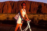Ayers Rock Australia, Girl on Bike