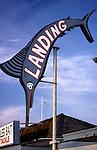 Fishing Sign, Redondo Beach Pier, Jan.,1989