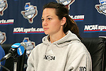 3 December 2005: Bristyn Davis. The UCLA Bruins held a press conference the day before playing in the NCAA Women's College Cup, the Division I Championship soccer game at Aggie Soccer Stadium in College Station, TX.