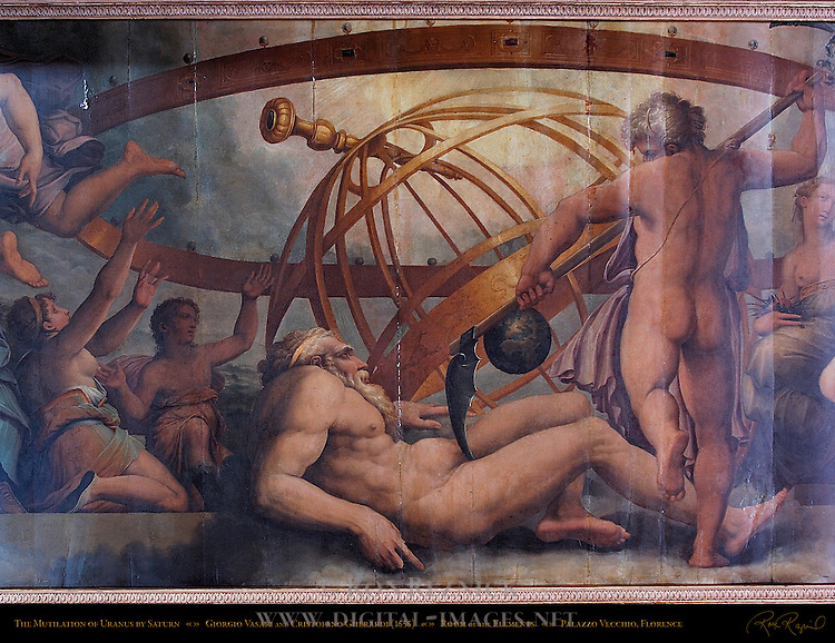 Mutilation of Uranus by Saturn Vasari Gherardi Apartment of the Elements Palazzo Vecchio Florence