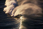 Powered by a winter, gale-force wind, an enormous wave breaks off the coast of Oregon.
