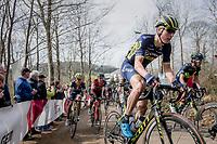 Jens Keukeleire (BEL/Orica-Scott) up Baneberg<br /> <br /> 79th Gent-Wevelgem 2017 (1.UWT)<br /> 1day race: Deinze &rsaquo; Wevelgem - BEL (249km)