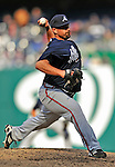 2 April 2011: Atlanta Braves pitcher George Sherrill on the mound against the Washington Nationals at Nationals Park in Washington, District of Columbia. The Nationals defeated the Braves 6-3 in the second game of their season opening series. Mandatory Credit: Ed Wolfstein Photo