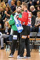 Torwart Gespraech, links Primoz Prost (FAG), rechts Bastian Rutschmann (FAG)