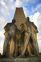 National  memorial Obelisk liberation in Sachsenhausen concentration camp  Germany