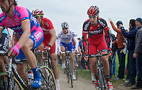 Paris-Roubaix 2012 ..Taylor Phinney going smoothly