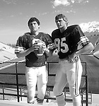 Hudson/Young promo<br /> <br /> 8 Steve Young. 95 Gordon Hudson.<br /> <br /> Photo by: Mark Philbrick/BYU<br /> <br /> Copyright BYU PHOTO 2008<br /> All Rights Reserved<br /> 801-422-7322<br /> photo@byu.edu