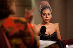 Singer Lady Gaga on the set of The Gayle King Show, on the Opera Network in New York City. ..Photo by Robert Caplin.