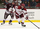 Brendan Corcoran (Colgate - 3), Petr Placek (Harvard - 27) - The Harvard University Crimson defeated the Colgate University Raiders 4-1 (EN) on Friday, February 15, 2013, at the Bright Hockey Center in Cambridge, Massachusetts.