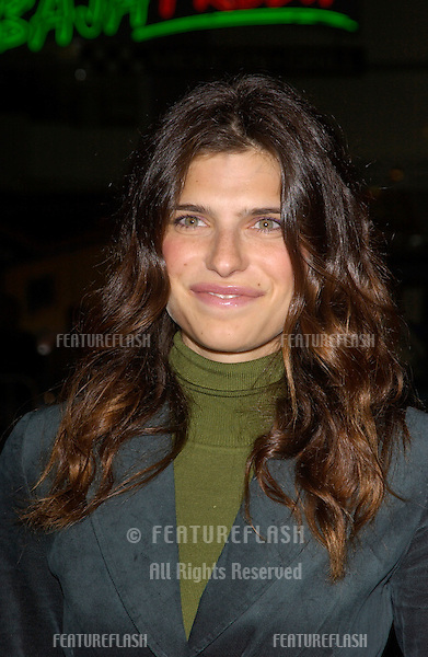 Actress LAKE BELL at the Los Angeles premiere of Team America: World Police..October 11, 2004
