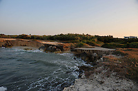 Puglia, Salento, Litoranea verso San Foca, luogo  dove dovrebbe arrivare il gasdotto dall'Azerbaigian. <br /> Apulia, Salento, road to San Foca, place where the pipeline from Azerbaijan should arrive.