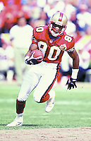 SF 49ers wide receiver Jerry Rice in action